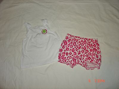 Carters Baby Girls Size 12M 2 Piece Spring/summer Short Set