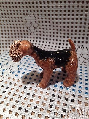 Vintage Jane Callender Spaghetti Dog - Welsh or Airedale Terrier