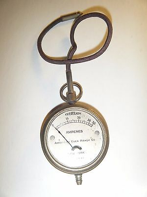 VINTAGE EVEREADY BATTERY TESTER Amperes Meter Long Island City New York
