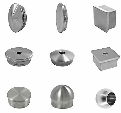 Stainless Steel V2A End Caps Pipe Plug End Cover Fasten Plug Handrail