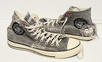 Used RAMONES Chuck Taylor Converse Limited Edition Mens 6.5 High Top 6.5 Shoes