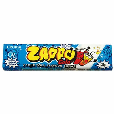 Bulk Lollies 20 x Zappo Chews Cola 26g Candy Buffet Sweets Party Favors Lolly
