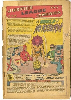 JUSTICE LEAGUE OF AMERICA #1  First JLA. Coverless. Great reading copy!