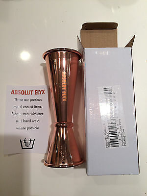 Rare Absolut Elyx Copper Jigger Shot Measuring Cup NEW  Free Shipping