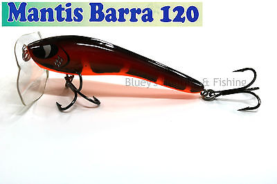 Kingfisher Mantis Barra 120mm Cod surface fishing lure; 08 Fireball NEW 2017