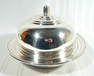 BIRKS Rideau Silver Plate Covered  Breakfast Muffin Dish Machine age Design
