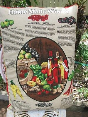 Vintage Home Made Wines Pillow Cover