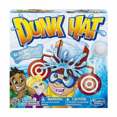 Hilarious Fun Filled Interactive Outdoor Easy Play Kids Dunk Hat Water Tank Game