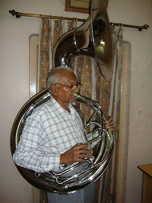 """TOP SALE OSWAL NEW SILVER 24""""Bb SOUSAPHONE TUBA WITH FREE HARD CASE+MOUTHPIECE"""
