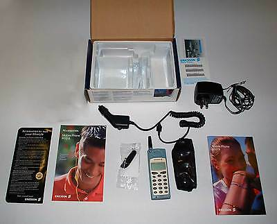 Vintage Ericsson A1018s Mobile Phone, Complete with Original Accessories in Box