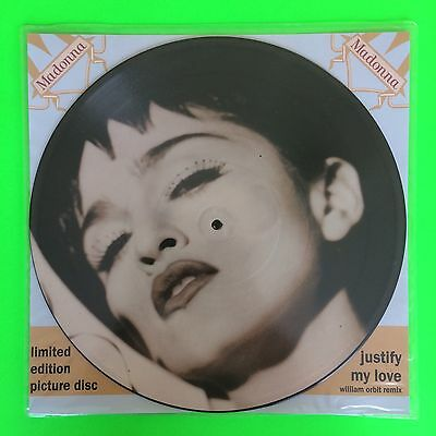 """Madonna - Justify My Love - 12"""" Vinyl Picture Disc + Backing Card (W9000Tp)"""