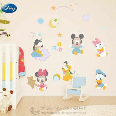 Decals, Stickers & Vinyl Art Large Disney Land Mickey Minnie Kids Wall Stickers Vinyl Decal Art Mural Decor Baby