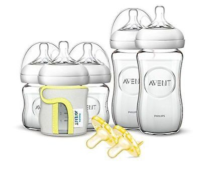 Philips Avent Natural Glass Safe Durable Baby Bottle Easy Wash Gift Set