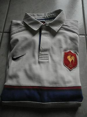 Maillot Rugby NIKE France 1999 Manches Longues Extérieur -taille  XL
