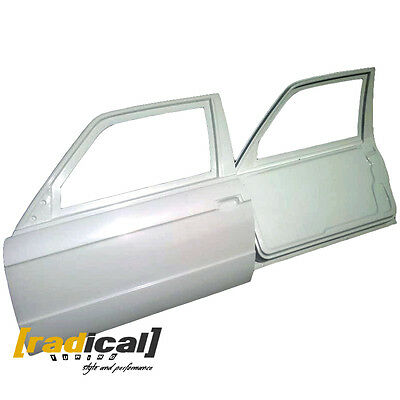 Pair of FRP Lightweight Doors with Frame for BMW E30 2D Coupe or M3 drift race