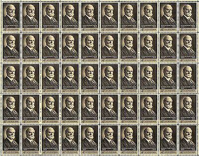 1962 - CHARLES EVANS HUGHES - #1195 Full Mint Sheet of 50 Vintage Postage Stamps