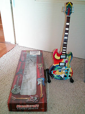 mini guitar with stand