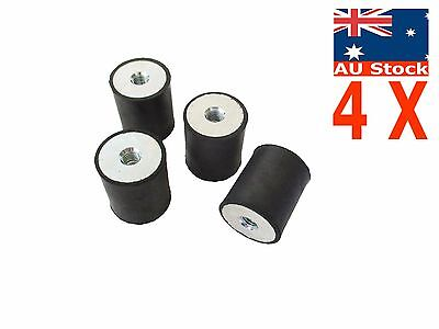 4pcs M8 Rubber Vibration Mount 30*35mm Isolator Auto Bobbin FF female female