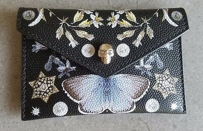 ALEXANDER MCQUEEN Nocturnal Print Card Case NEW