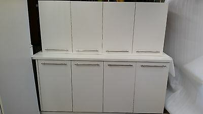 White Bench With Cabinet For Kitchen & Laundry