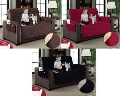 Luxury Reversible Quilted Sofa Protector Throw Furniture Protector All Sizes