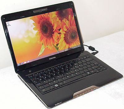 Toshiba Satellite Laptop Intel Core 2 4GB 320GB Win 7 HDMI WiFi Webcam Bluetooth