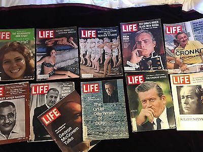 Life Magazine - Lot of Eleven from the Sixties and early Seventies