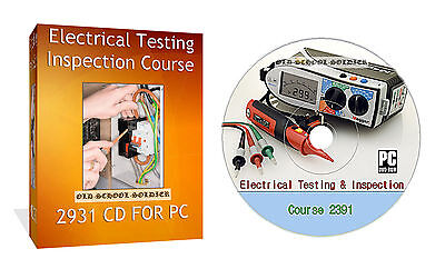 2391 Inspection Electrical And Testing Study Course  On Cd For Pc