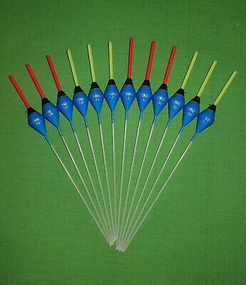 12 x Assorted High Quality Pole Fishing Floats (Pack 4)