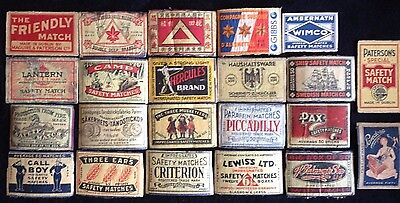 22 Oversea's Manufactured Match Box Labels