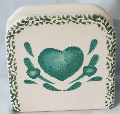 Tienshan Folkcraft Green Hearts Napkin Holder