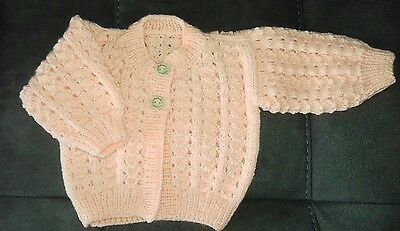 *NEW* Hand Knitted Baby Cardigan 0-3 months