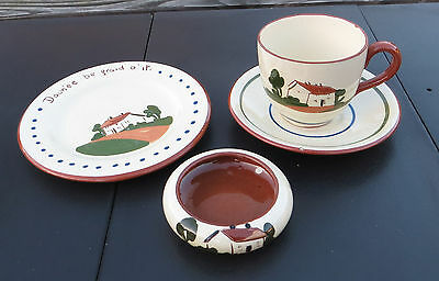 Cottage Torquay Motto Ware - Dartmouth / Watcombe - Cup/Saucer/Plate/Bowl