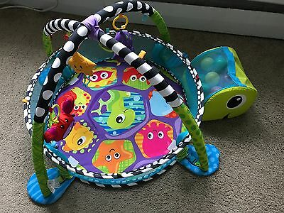 Infantino Grow-With-Me Activity Gym & Ball Pit Baby & Toddler Turtle Play Mat
