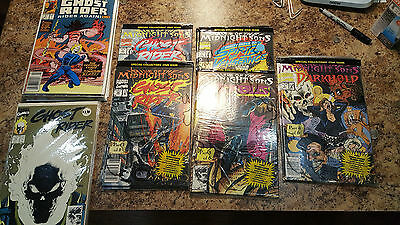 Ghost Rider / Related 25 Comic Lot Morbius Sealed Bags / Posters