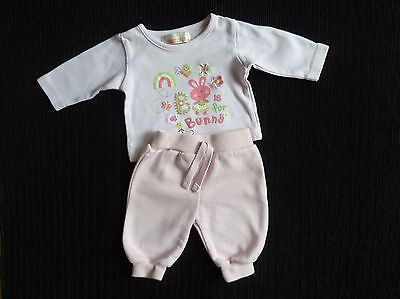 Baby clothes GIRL premature/tiny<7.5/3.4kg outfit rabbit long sleeve top/trouser