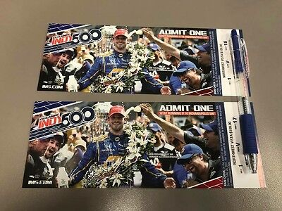 2017 Indianapolis 500 tickets, Northwest Vista, Section 1 Row V, Seats 17 and 18