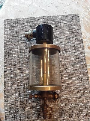 "Essex 4"" Dia. x 5"" High Glass & Brass Oiler - Large /    Steampunk"