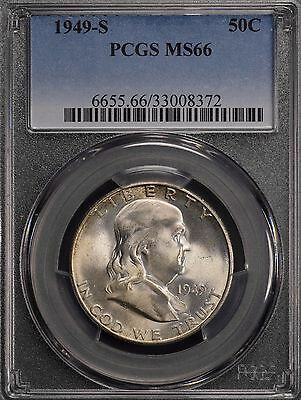 1949-S 50C PCGS MS66 Franklin Half Dollar