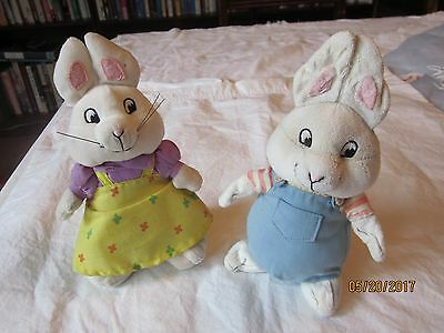 Lot Of 2 - Max and Ruby Toys - Ty Bean Bag Plush Stuffed Animals Beanie Babies