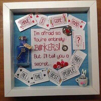 Alice in Wonderland quote mixed media picture