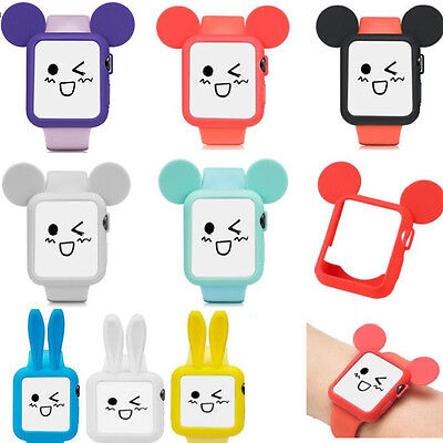 2e72112383f Cute Rabbit Mickey Mouse Ears Soft Silicone Protective Case for Apple Watch  1/2