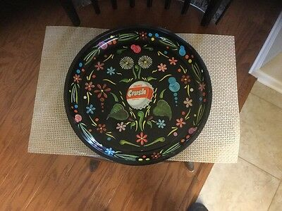 Floral Pattern Orange Crush Soda Tray