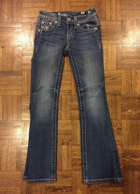Girls Miss Me Jeans Blue Jeans Denim Boot Cut Size 7