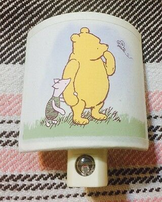 Disney CLASSIC WINNIE-THE-POOH Fabric Night Light Shade Piglet Darkness Sensor