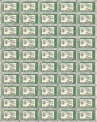 1961 CREDO - PATRICK HENRY #1144 Full Mint Sheet of 50 Vintage Postage Stamps
