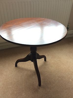 Vintage Solid Dark Oak Round Hallway/Occasional/Console Table
