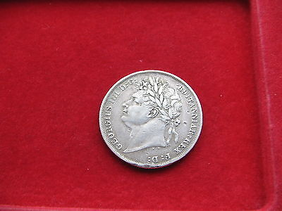 Nice 1824 King George IV Silver Shilling Free UK Post