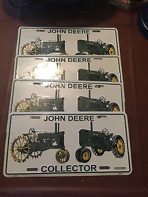 4-John Deere license plate, New in Sealed Plastic, Collectors Plate.