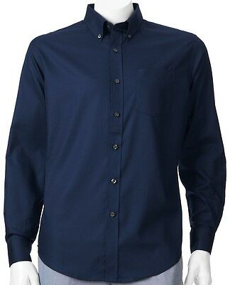 cab9e1a4284 NWT Croft   Barrow Solid Button-Down Admiral Navy Blue Shirt Men Big   Tall